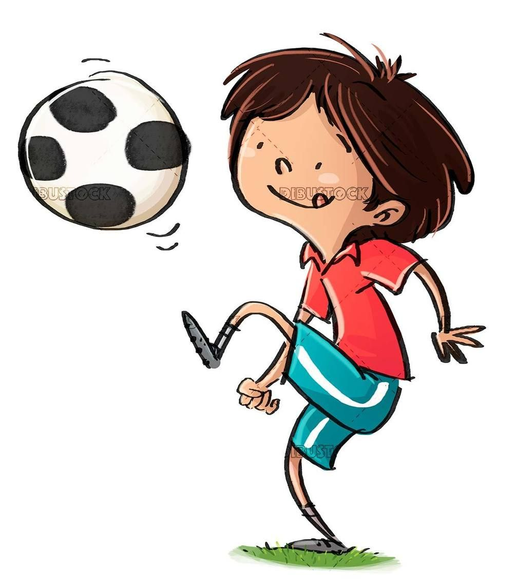Kids Juggling Soccer Ball In 2020 Soccer Ball Kids Illustration