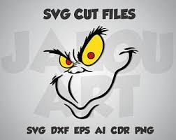 Download Image result for grinch silhouette | Grinch face svg, Svg ...
