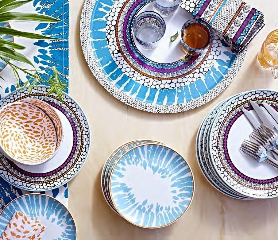 ikea driftig plate patterned multicolour 27 cm dinnerware with a modern and playful pattern inspired by the fashion world and nature