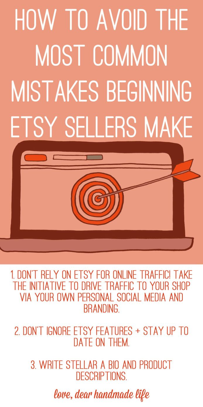 3 mistakes most beginner Etsy sellers make (and how to avoid them #craftsaleitems