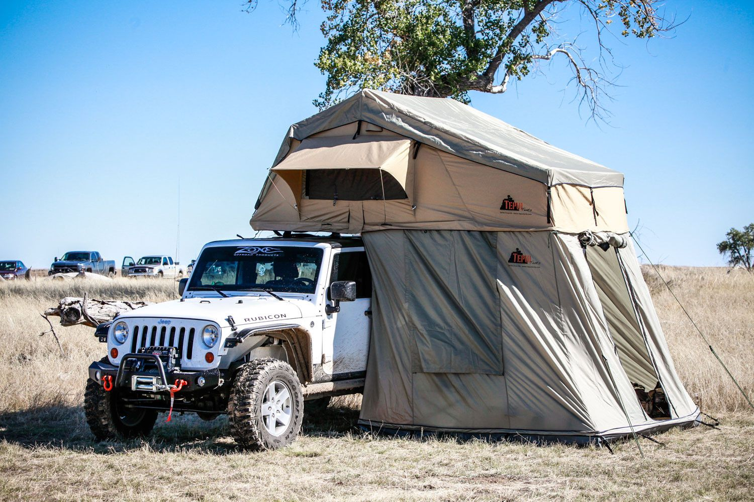 Tepui Autana Sky roof top tent with annex open front view. Car c&ing & Tepui Autana Sky roof top tent with annex open front view. Car ...