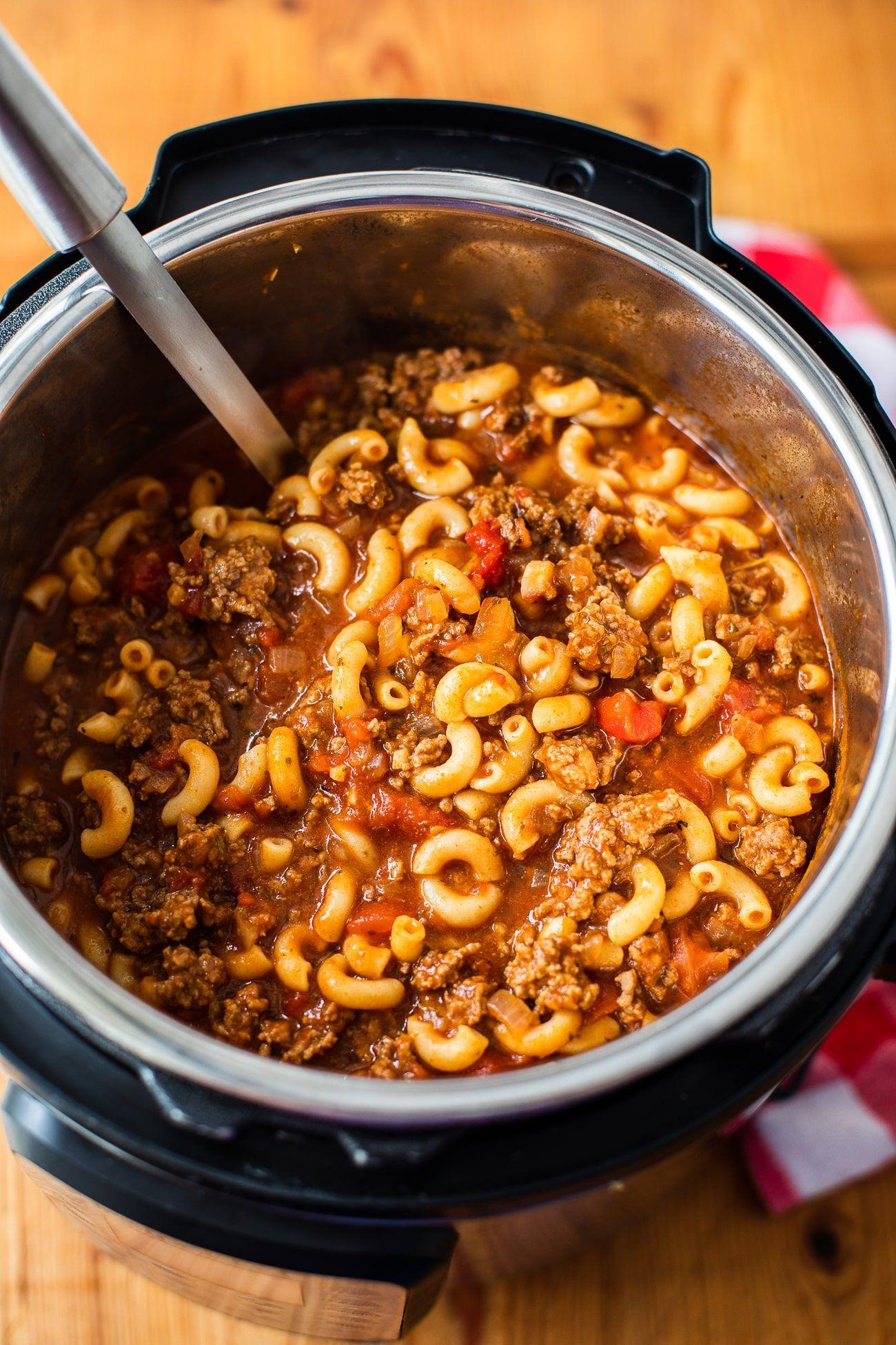 Best Instant Pot Goulash American Goulash Recipe Recipe In 2020 Instant Pot Dinner Recipes Easy Instant Pot Recipes Best Instant Pot Recipe
