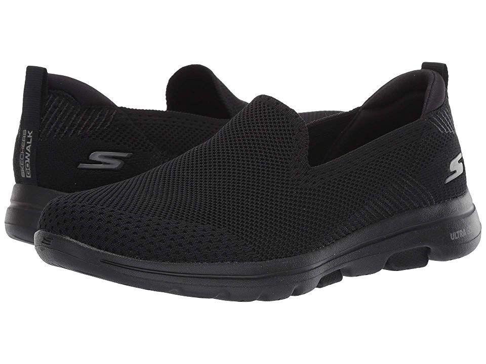 Shop Black Skechers Go Walk 5 Prized Sneakers for Men