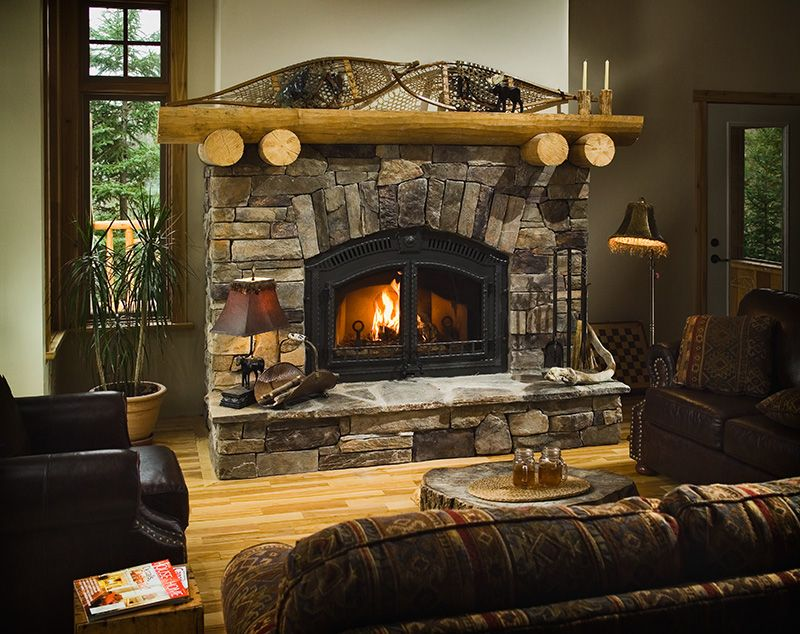 Fireplace with Cultured Stone Bucks County Ledgestone and ...