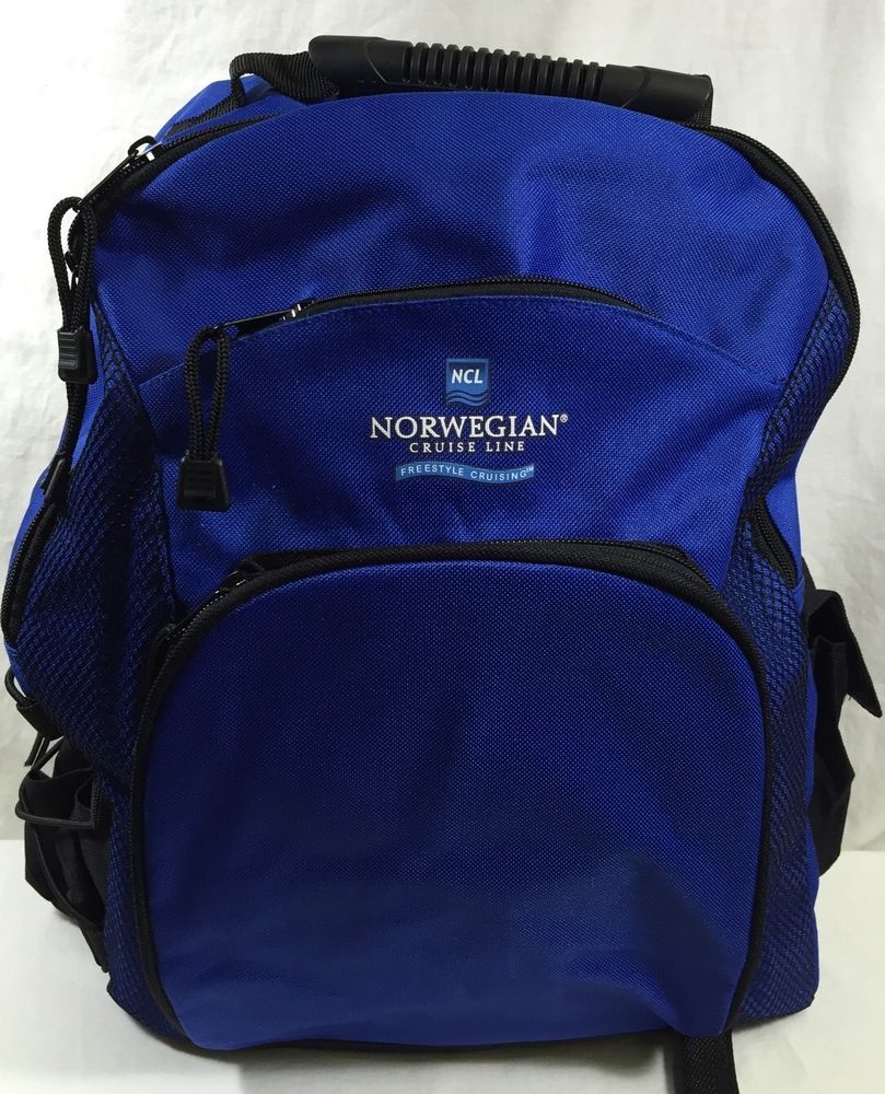 luxury closer at info for Norwegian Cruise Line Backpack Blue NCL Carry on Travel ...