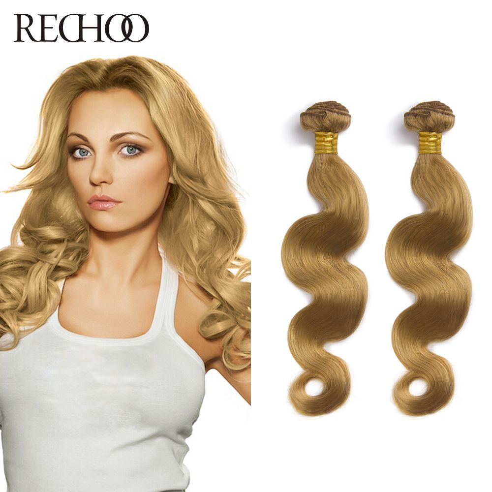 Fashionable Malaysian Body Wave 4 Bundles Any Length Brown Blond