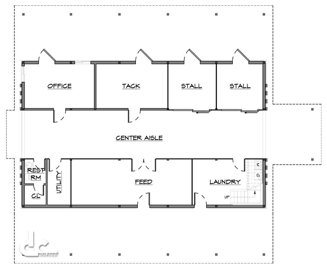 small barn floor plans