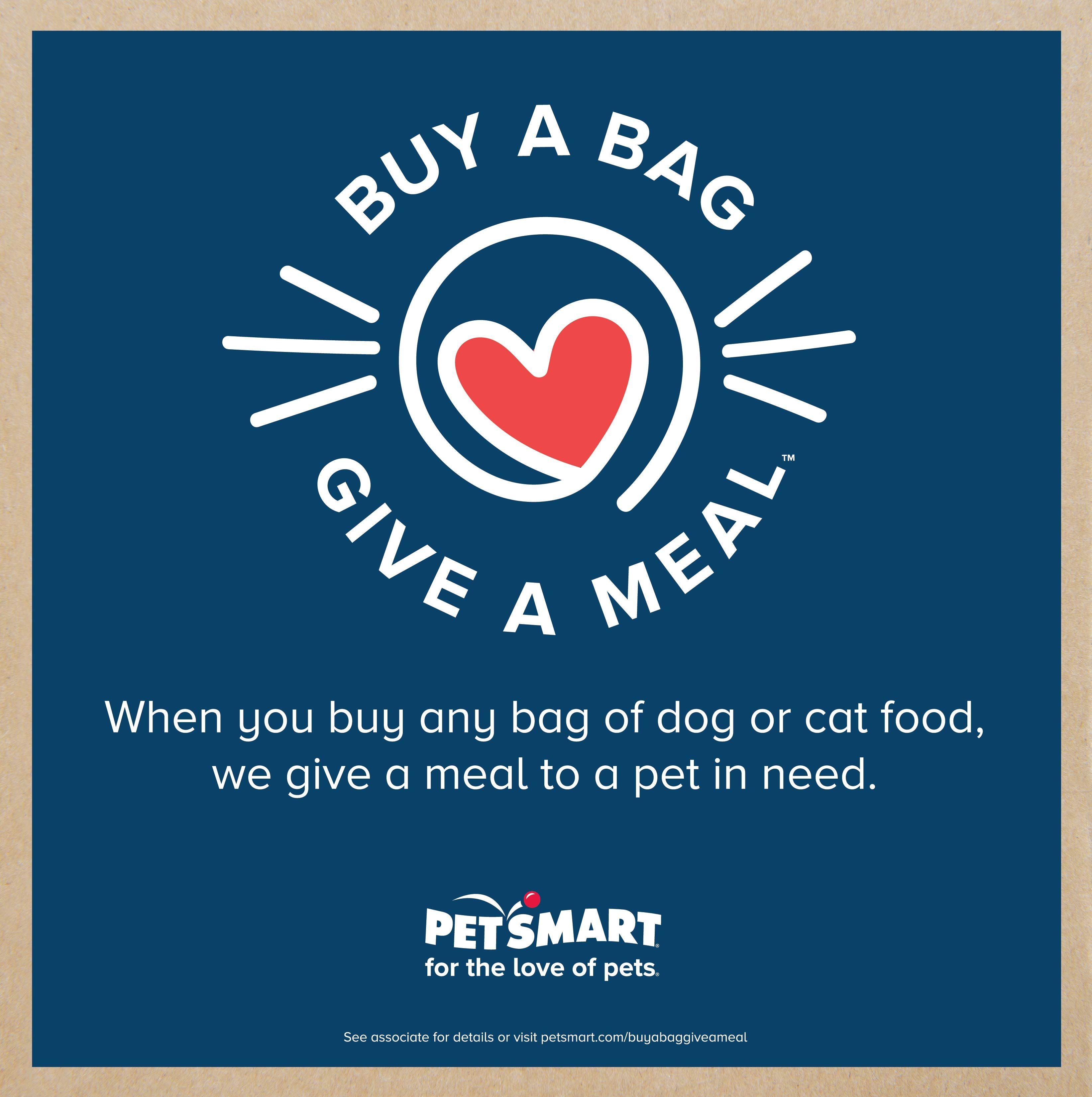 Petsmart Announces Buy A Bag Give A Meal Program Petsmart Pets Puppy Care