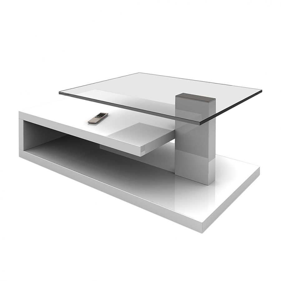 Table basse Matthias - Blanc brillant
