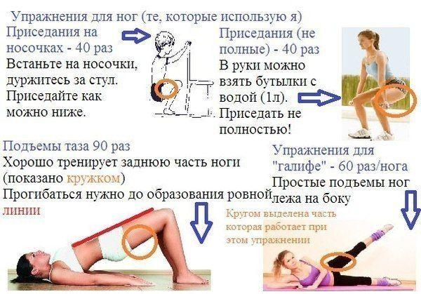 Чтобы похудели ноги упражнения