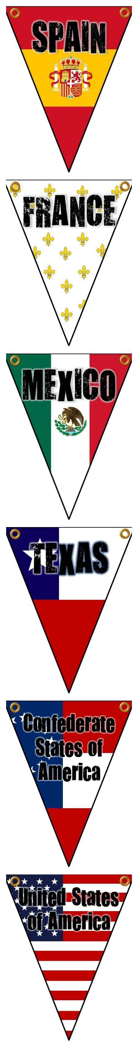 Six Flags Over Texas Banner Texas History Classroom History Classroom History Classroom Decorations