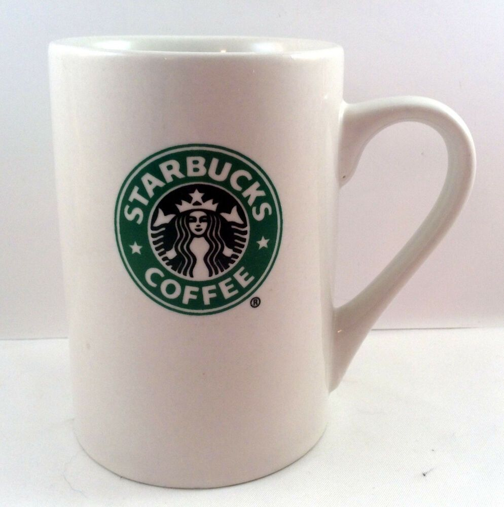 Starbucks Traditional Coffee Tea Cup Mug White Tall 4 1/2
