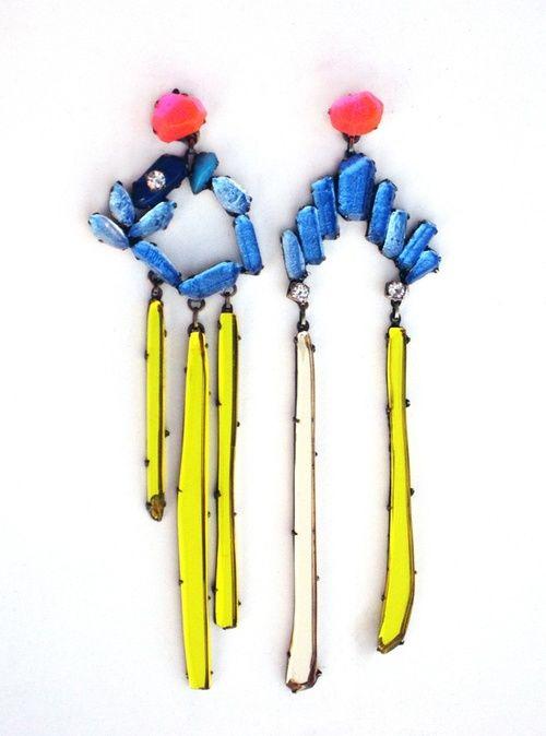 Blue Earrings by Nikki Couppee : http://www.nikkicouppee.com/blueearrings.html