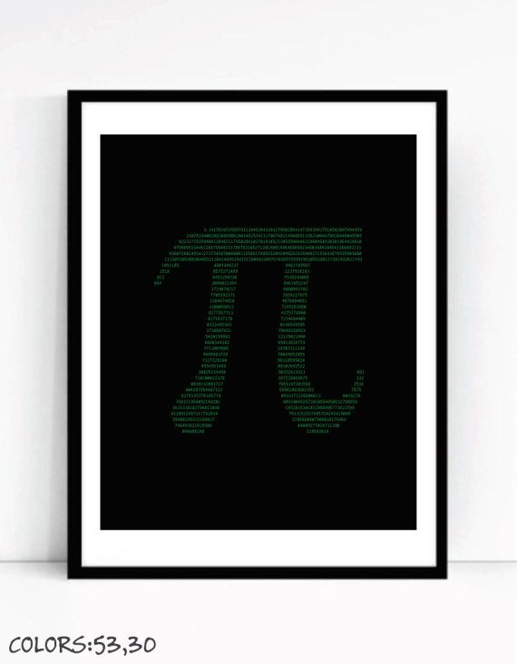 Pi Art Print For Geeks Office Gallery Wall by TalkingPictures