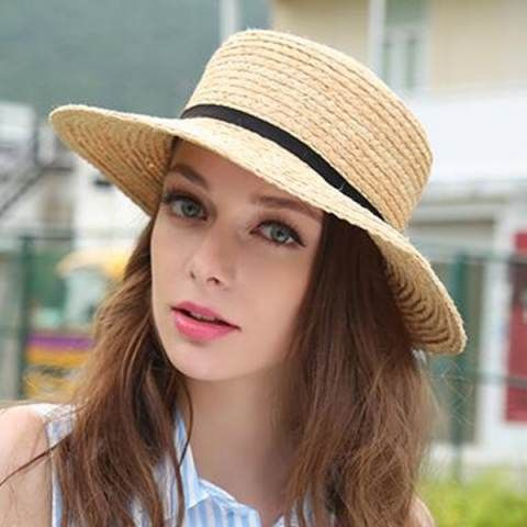 375337c2032 Elegant flower straw hat for women UV roll brim sun hats summer ...