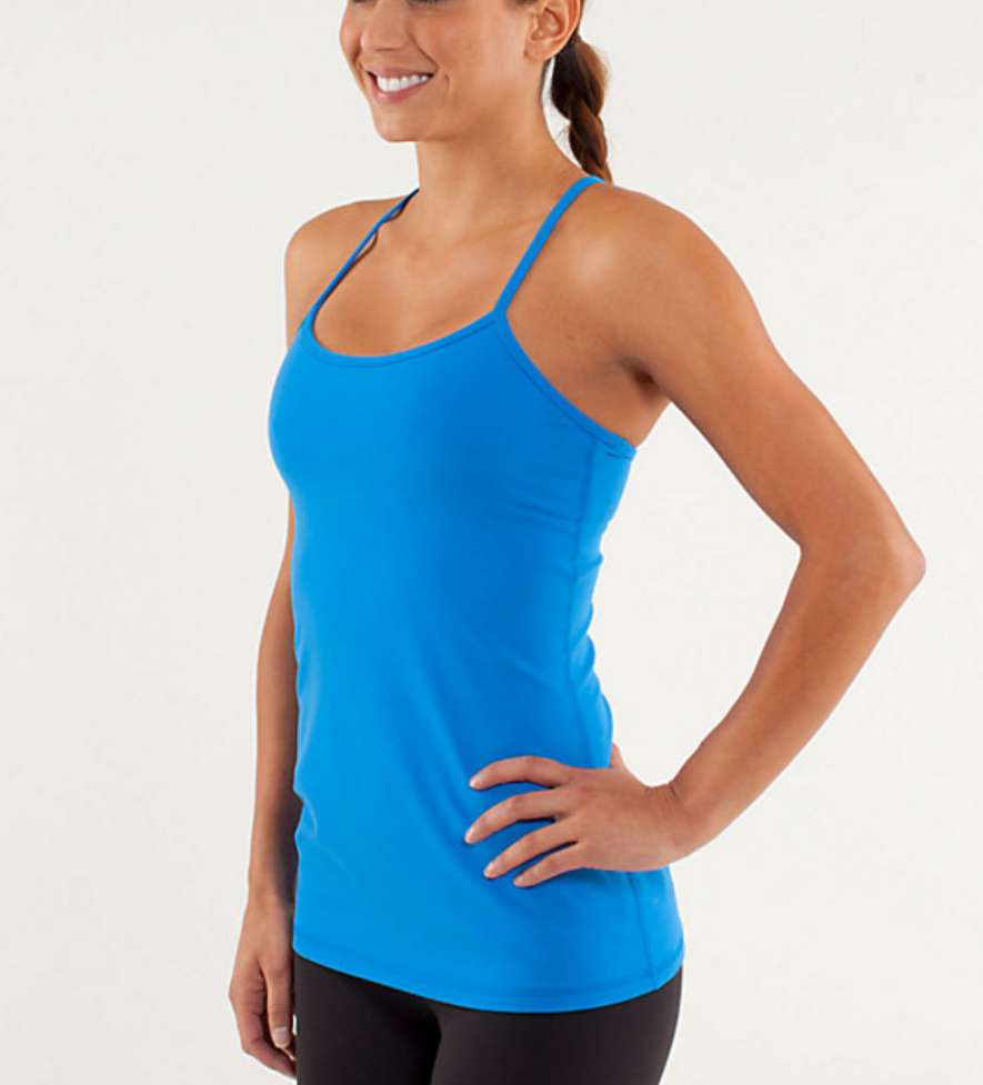 156c5451eba3b2 Details about NWT Lululemon Power Y Tank ( Luon) Pipe Dream Blue ...