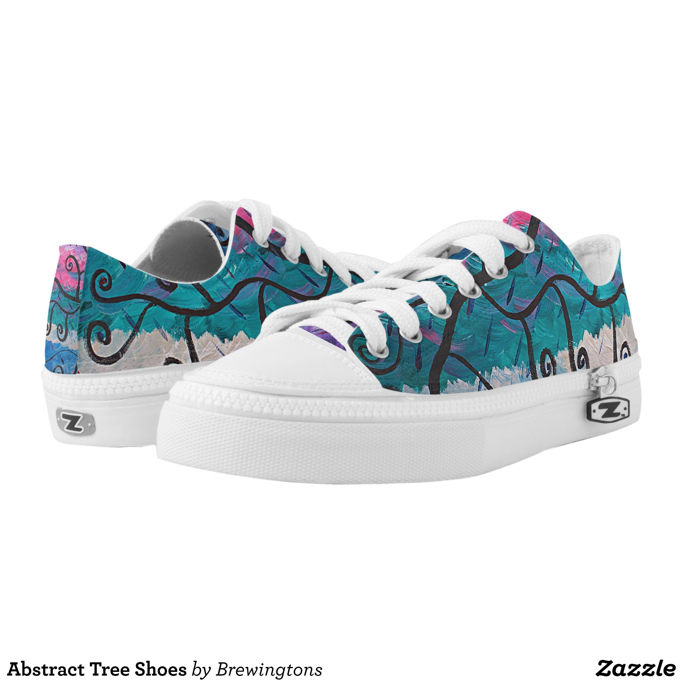 Abstract Tree Shoes - Canvas-Top Rubber