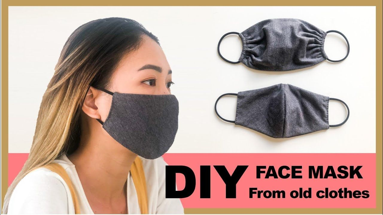 DIY FACE MASK from old clothes in 2 ways Washable