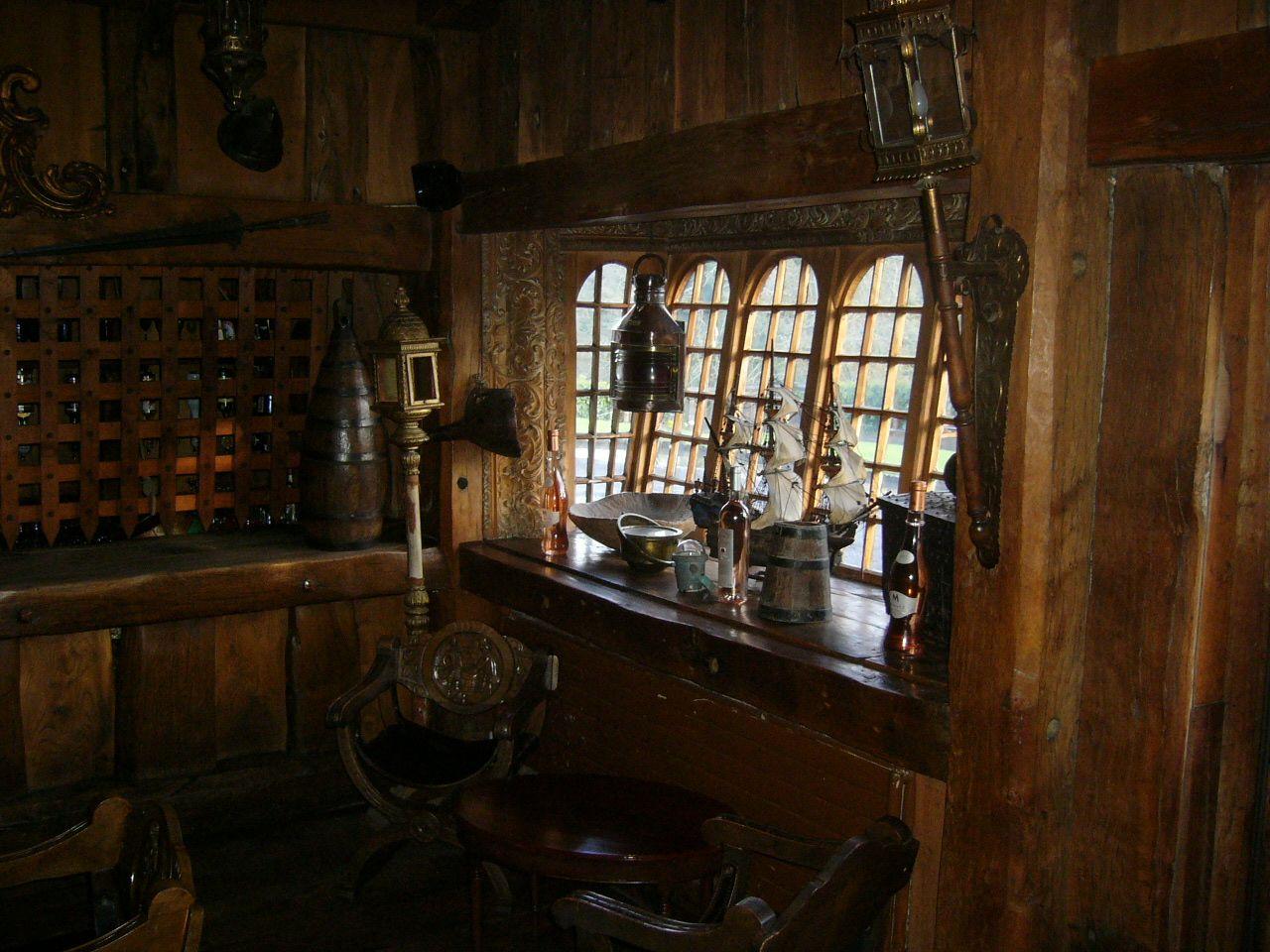 Pirate home cinema spanish armada themed galleon bar