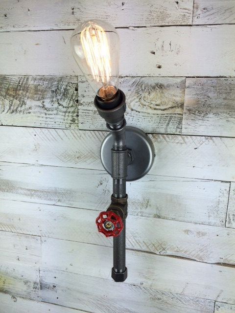 Steampunk torch wall light bespoke retro by tugboatsteampunk