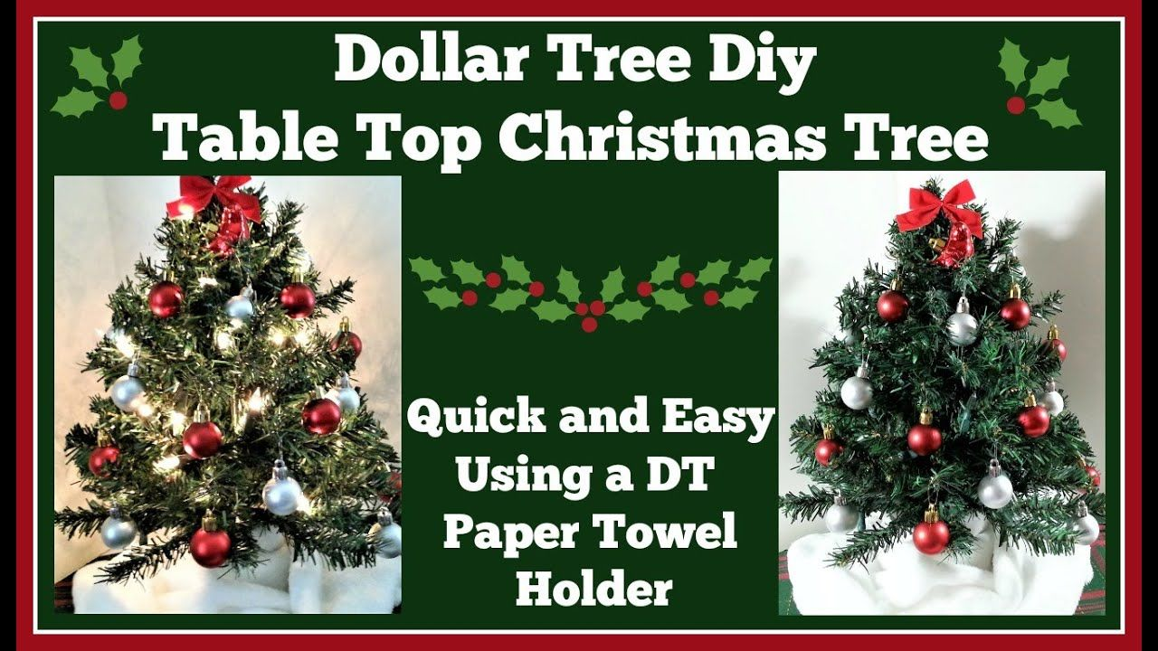 Dollar Tree Diy Table Top Christmas Tree Youtube Dollar Tree Diy Christmas Tree On Table Diy Table Top