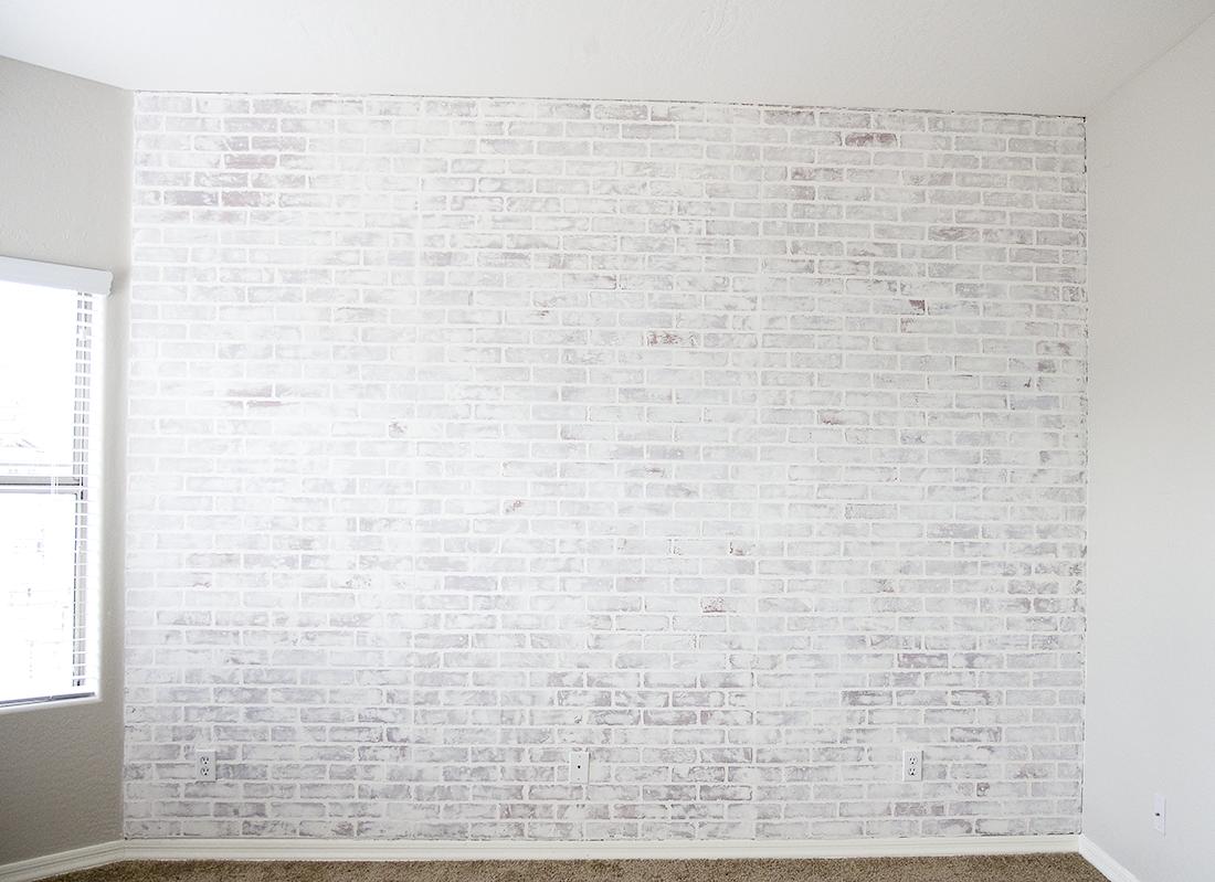 Diy Faux Brick Wall Easy Faux Brick Wall Using Brick Paneling Diy Faux Brick Wall Diy Brick Wall Faux Brick Wall Panels