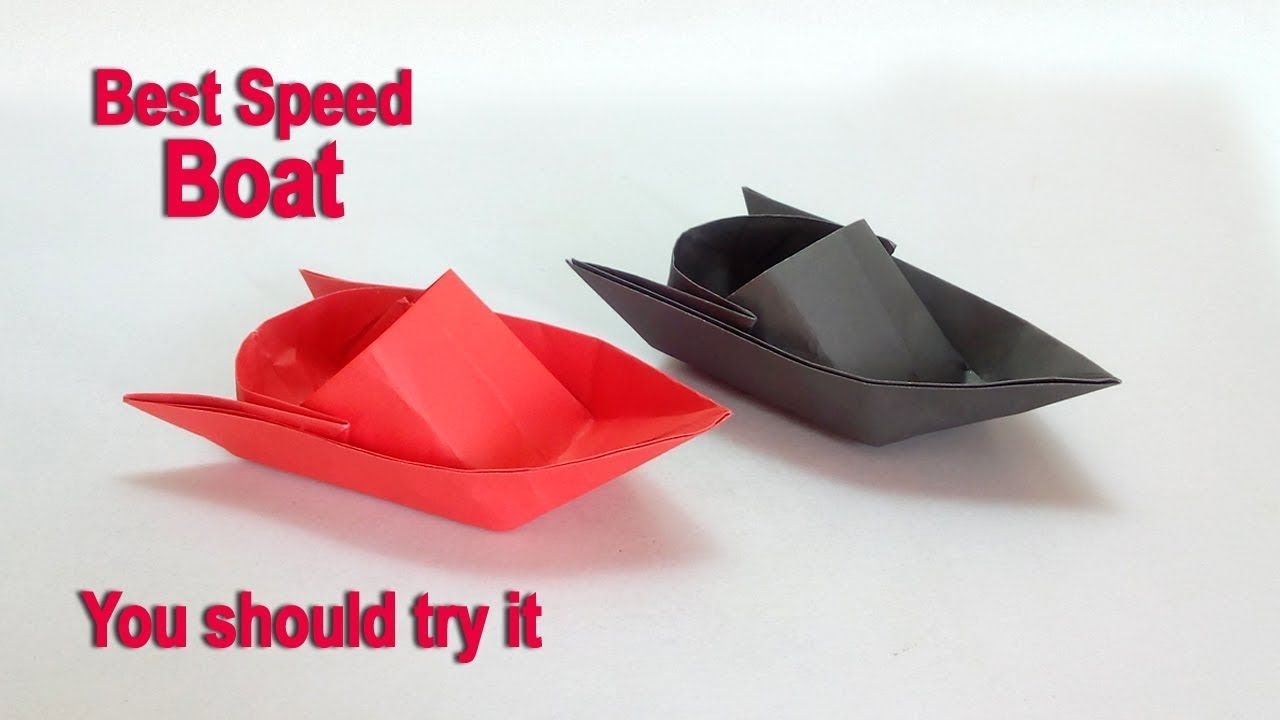 Paper Boat How To Make A Speed DIY Easy Origami Boa
