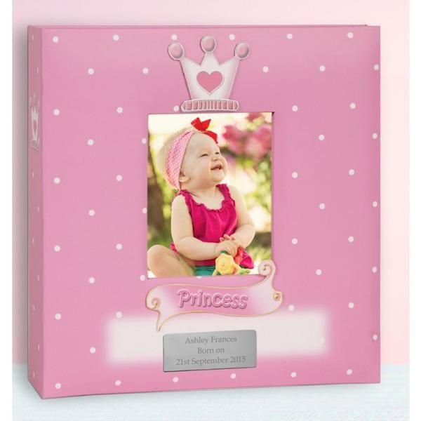 Personalised baby girl photo album princess design baby gift idea personalised baby girl photo album princess design lovely present idea negle Images