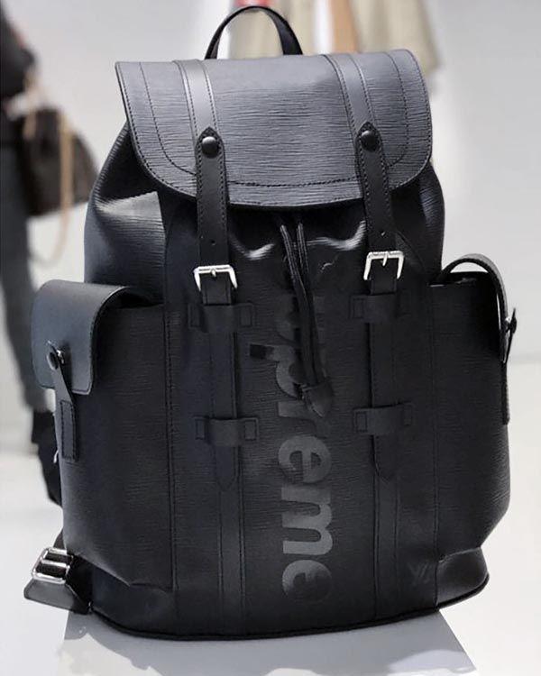 e32e23dceba2 ルイヴィトンスーパーコピー × SUPREME シュプリーム M53413 Epi Christopher Backpack PM エピ  クリストファー バックパック リュック バッグ