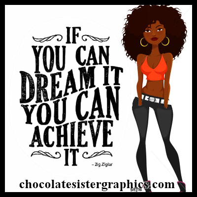 Chocolate Sister Graphics African American Profile