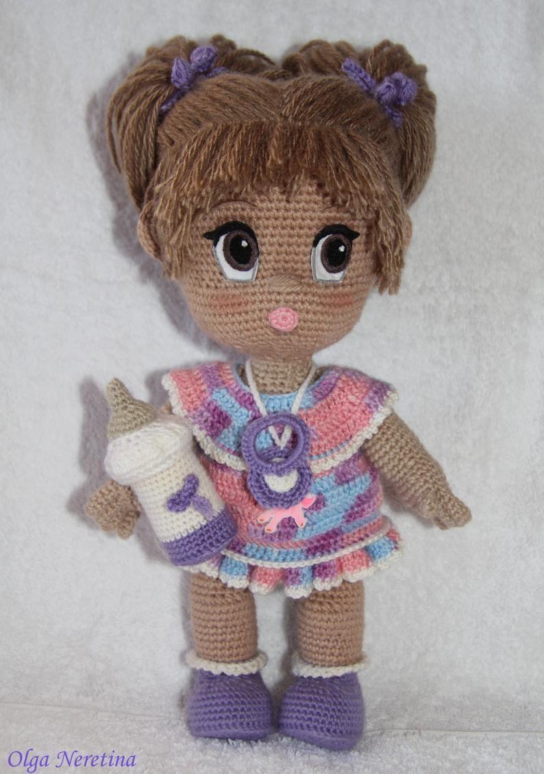 Polina Doll Amigurumi Crochet Pattern PDF in English | Etsy