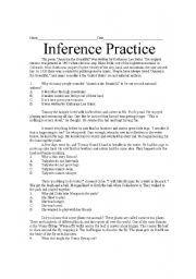 Inference Worksheets Reading Worksheets Reading Comprehension
