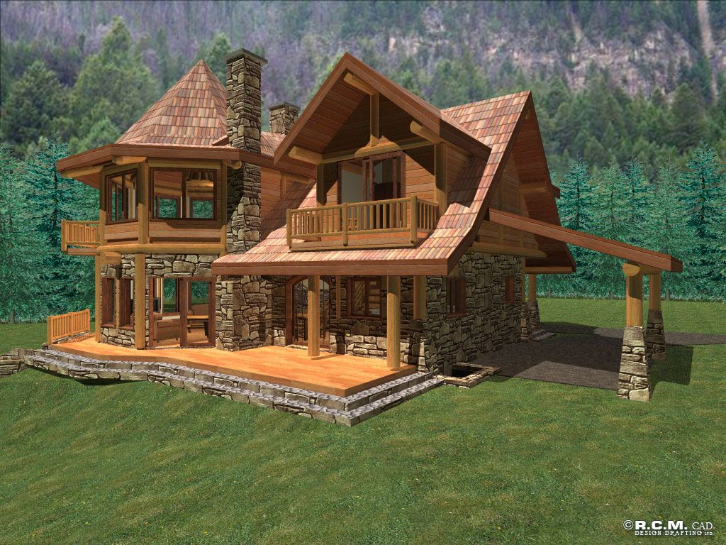 Anderson custom homes log home cabin packages kits for Log cabin lodge plans