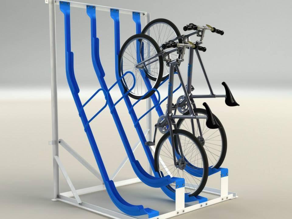 The OdoniElwell Type 9 Semi Vertical Bike Rack Vertical
