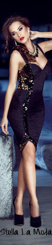 $34.99 Black Sequin Embellished Sweetheart Midi Dress
