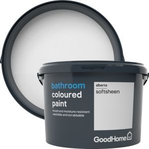 Goodhome Bathroom Alberta Soft Sheen Emulsion Paint 2 5l Mold In Bathroom Cleaning Mold B Q