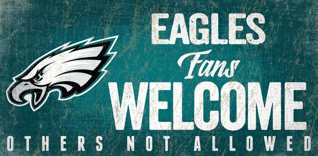 Philadelphia Eagles Sign Wood 12x6 Fans Design