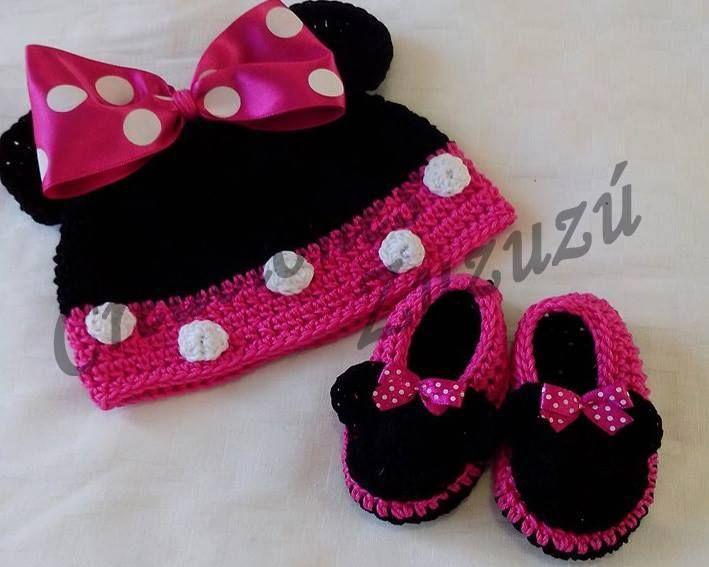 Set gorra y zapatos Minnie
