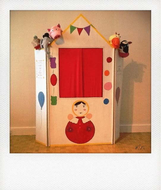 un theatre de marionnettes pour enfant diy 21 nouf in wonderland jeu enfants pinterest. Black Bedroom Furniture Sets. Home Design Ideas