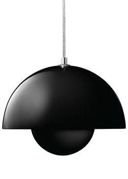 VP1 Black FlowerPot Pendant Lamp.