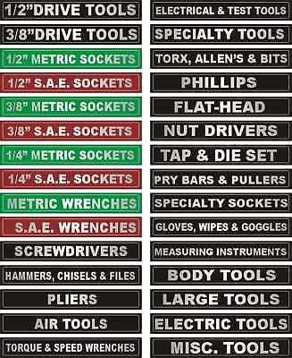 Adhesive Toolbox Labels Fits All Craftsman Tool Boxes Ebay Tool Box Organization Tool Box Storage Labels