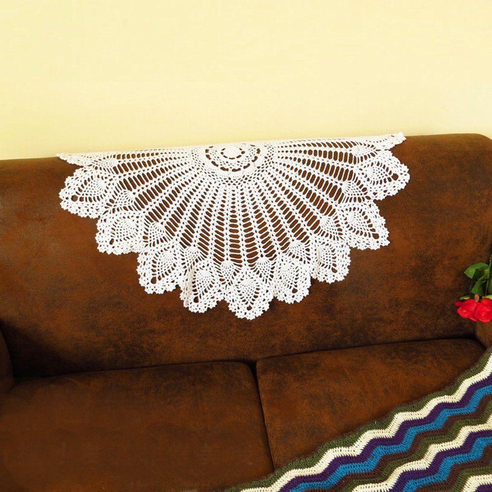Mmei 30 Inche Handmade Crochet Cotton Lace Round Doily