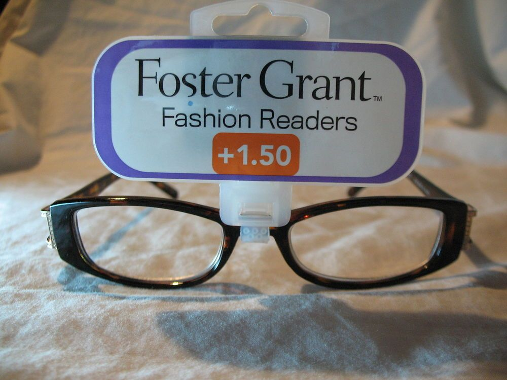 "6827badf3a Foster Grant Fashion Readers ""Chelsea B"" Tortoise Brown Reading Glasses  +1.50  FosterGrant"