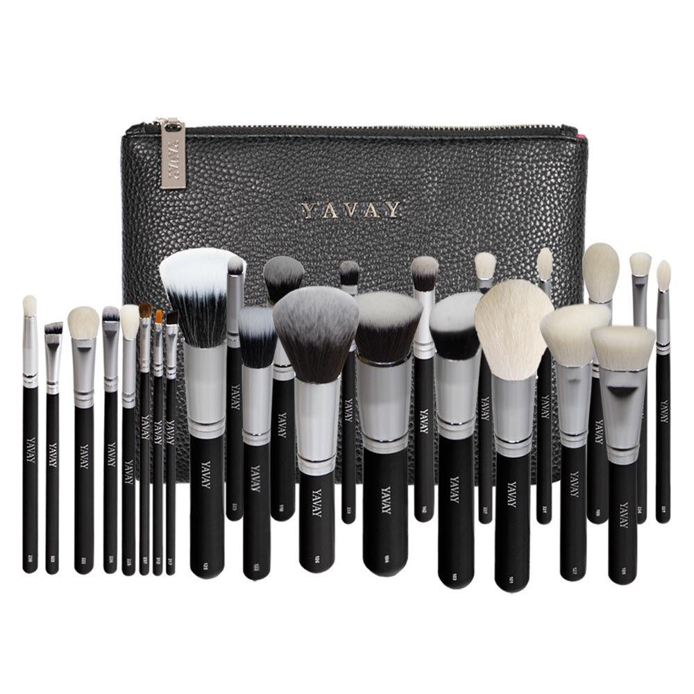 YAVAY 25pcs Original Pro Luxury Artist Makeup Brush Set