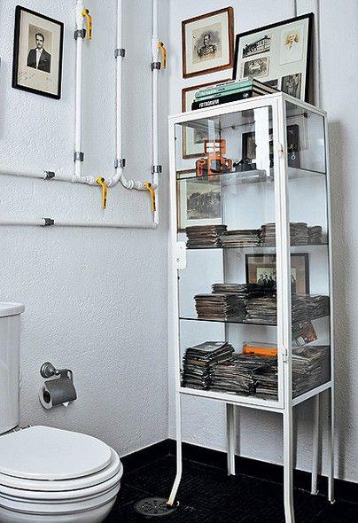 Artesanato Em Madeira De Demolição ~ Banheiros e lavabos Prateleiras de vidro, Fotografias