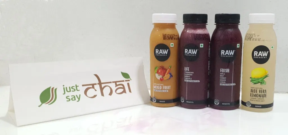 Keep It Raw With Raw Pressery Just Say Chai Mixed Fruit Juice Juice Branding Raw Juice