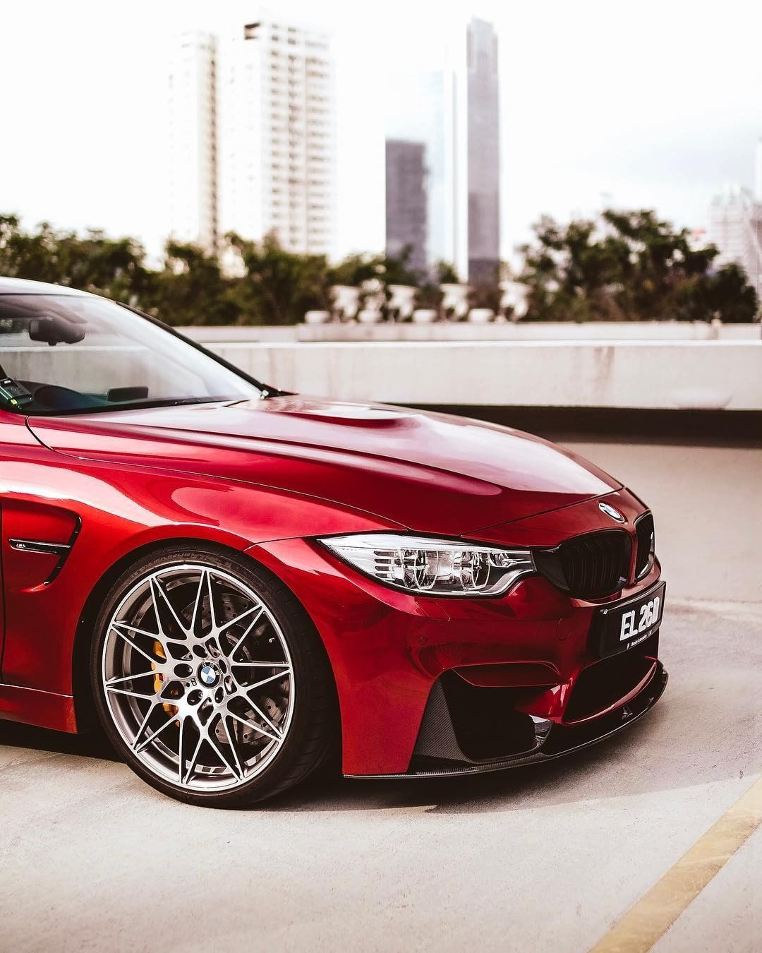Bmw F82 M4 In Bmw Individual Siena Red Ii Metallic Bmw M4 Coupe