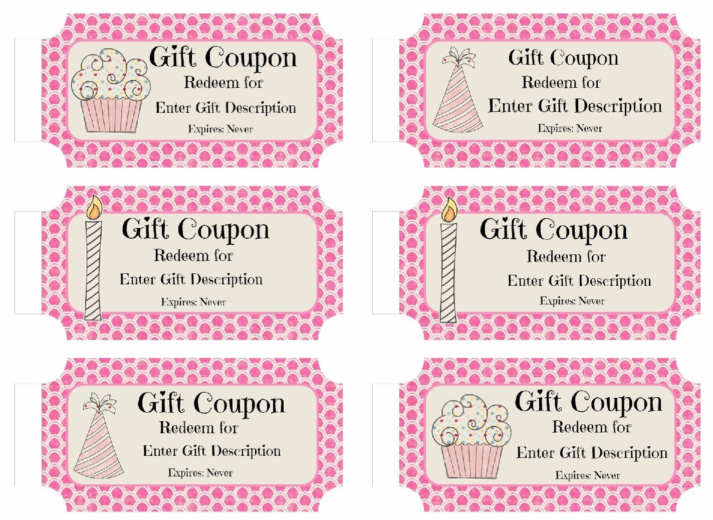 Free Custom Birthday Coupons Customize Online Print At Home Coupon Template Birthday Coupons Christmas Gift Certificate Template