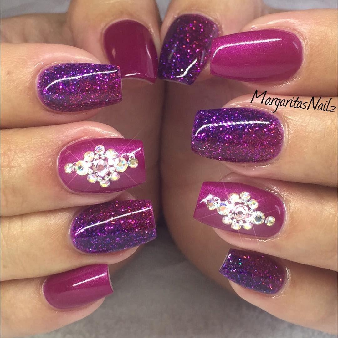 Margaritasnailz On Instagram Gelnails Glittergel Glitterombre Margaritasnailz Nails Fashionnails Magenta Nails Purple Nails Coffin Shape Nails
