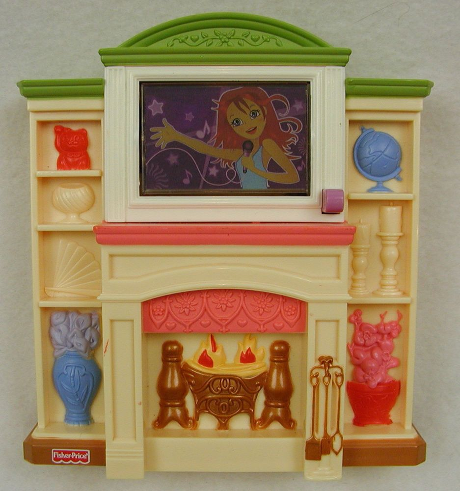 Fisher Price Loving Family Fireplace Musical Lights Fire